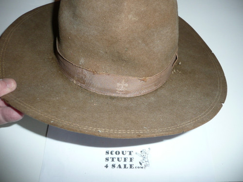 Early Official Boy Scout Campaign Hat (Smokey the Bear hat), size 6 3/4, some wear, CH5