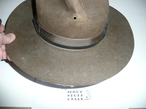 Early Boy Scout Campaign Hat (Smokey the Bear hat), size 7 1/8, like new, CH6