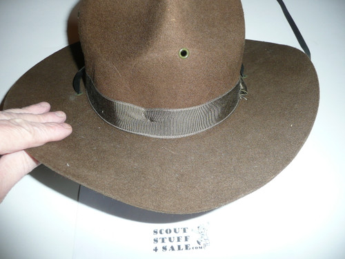 Early Boy Scout Campaign Hat (Smokey the Bear hat), size 6 3/4, like new, CH7