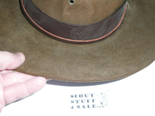 Early Official Boy Scout Campaign Hat (Smokey the Bear hat), size 7, some wear, CH8