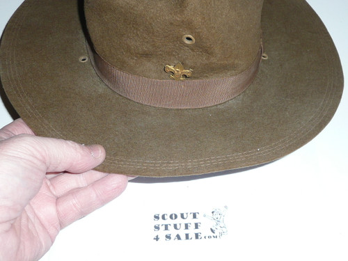 Early Official Boy Scout Campaign Hat (Smokey the Bear hat) by Sigmund Eisner, size 6 5/8, some wear, CH9