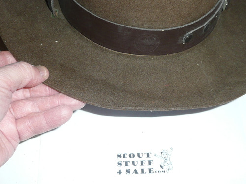 Early Official Boy Scout Campaign Hat (Smokey the Bear hat), size 7 3/8, used, CH10