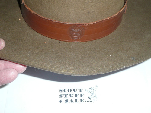 Early Official Boy Scout Campaign Hat (Smokey the Bear hat) by Stetson, size 6 7/8, used, CH11
