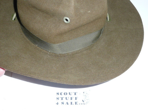 Early Boy Scout Campaign Hat (Smokey the Bear hat), size 6 5/8, used, CH12