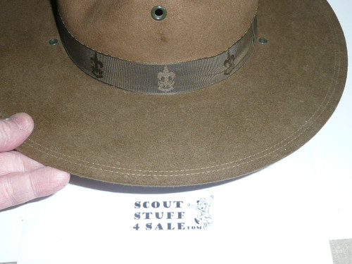 Early Official Boy Scout Campaign Hat (Smokey the Bear hat), size 6 3/4, like new with wood flatener, CH13