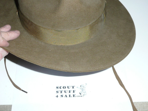 Early Official Boy Scout Campaign Hat (Smokey the Bear hat) by Stetson, size 6 7/8, some wear, CH15