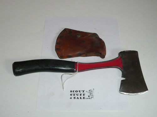 Vintage Official Boy Scout Axe / Hatchet made by Bridgeport, used