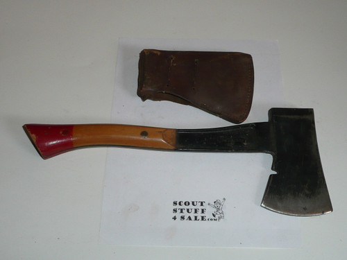 Vintage Official Boy Scout Axe / Hatchet made by Bridgeport, rare variety, very good condition