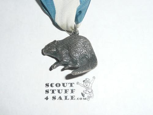 1990's Silver Beaver Award, Type SB6D, MINT