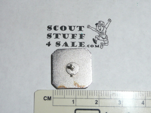 Silver Beaver Tie Tack, 1950's, Silver with enamel, MINT