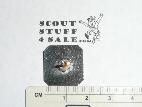 Silver Beaver Lapel Pin, 1950's, Robbins hallmark, Silver with enamel, MINT