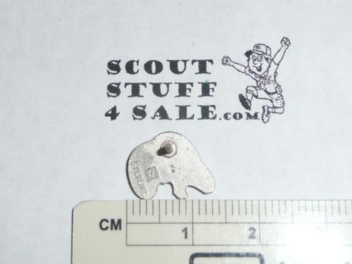 Silver Beaver Award Lapel Pin / Tie Tack, Older variety, Stange hallmark STERLING