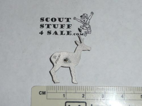 Silver Antelope Award Lapel Pin, Stange Hallmark, Sterling