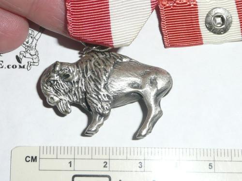 1970's Silver Buffalo Award, Boy Scouts of America, Sterling Silver