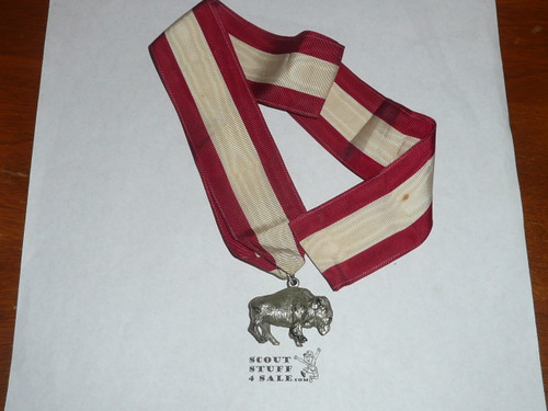 Early Silver Buffalo Award, Boy Scouts of America, Sterling Silver, In box with lapel pin