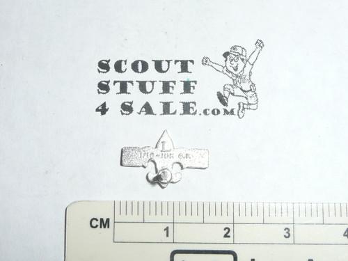 """Silver Buffalo Award Lapel Pin, 1960's, """"L"""" Hallmark, 10k GOLD filled"""
