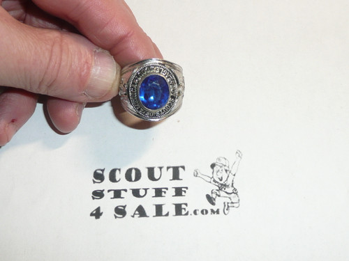 Eagle Scout Ring, 1980's STERLING Silver, MINT condition, Size unknown, Can be sized