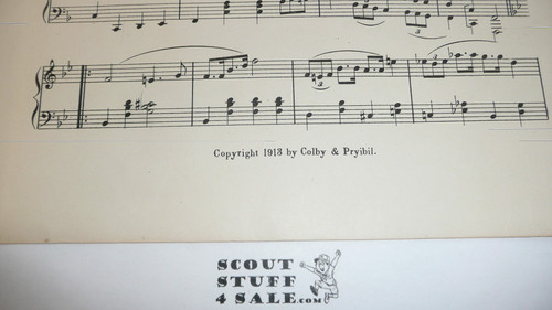 1913 American Boy Scout's March Sheet Music, by F. H. Sea