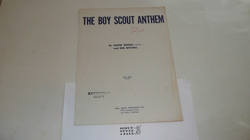 1954 The Boy Scout Anthem Sheet Music, by Wright and Mitchell