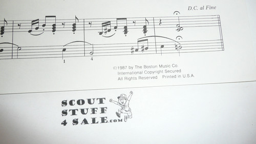 1987 Scout Jamboree Sheet Music, by Mark Nevin