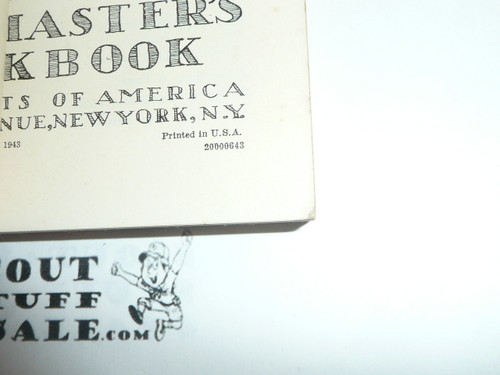 1943 Cubmaster's Packbook, Cub Scout, 6-43 Printing