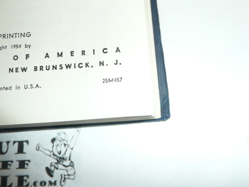 1957 Cubmaster's Packbook, Cub Scout, 4-57 Printing