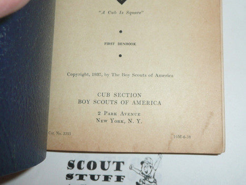 1938 The Den Chief's Denbook, 6-38 Printing