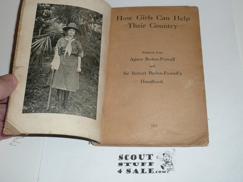 1917 How Girls Can Help Their Country, Handbook For Girl Scouts, example #2
