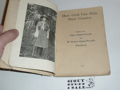 1917 How Girls Can Help Their Country, Handbook For Girl Scouts, example #3