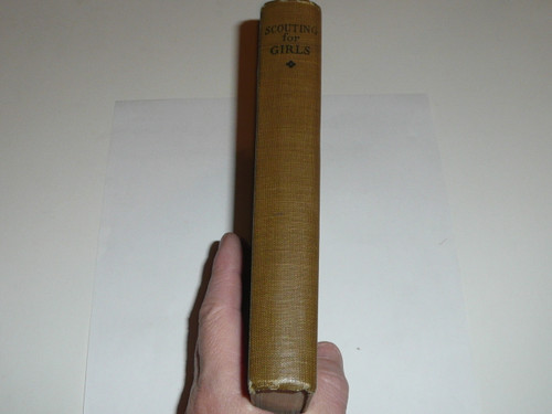 1925 Scouting for Girls, Official Girl Scout Handbook, hardbound, 6th printing