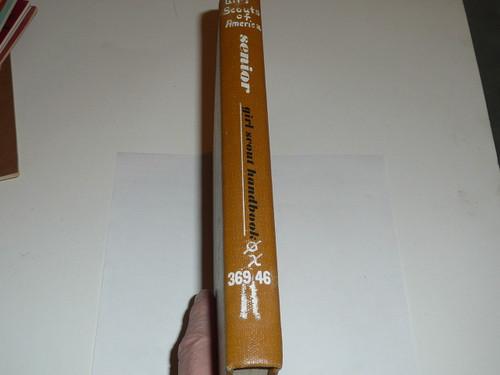 1963 Official Girl Scout Senior Handbook, RARE Library Binding, 4-63 Printing