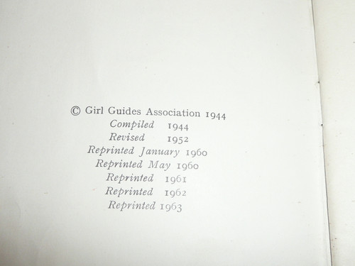1963 The First Book of Campfire Songs, Girl Guides