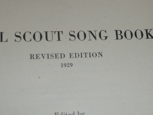 1929 Girl Scout Song Book