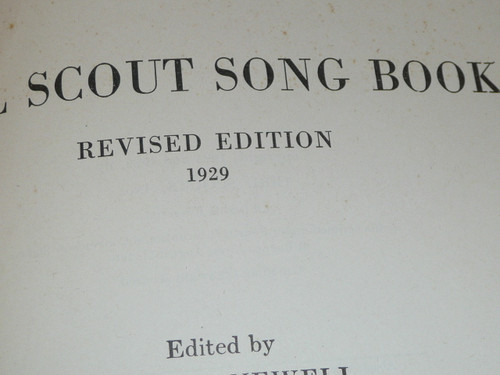 1929 Girl Scout Song Book, taped spine