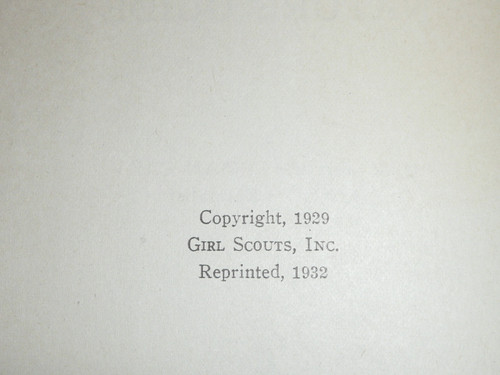 1932 The Girl Scout Leader's Nature Guide, Girl Scouts of America