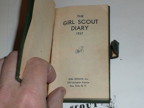 1937 Girl Scout Diary in Official Case