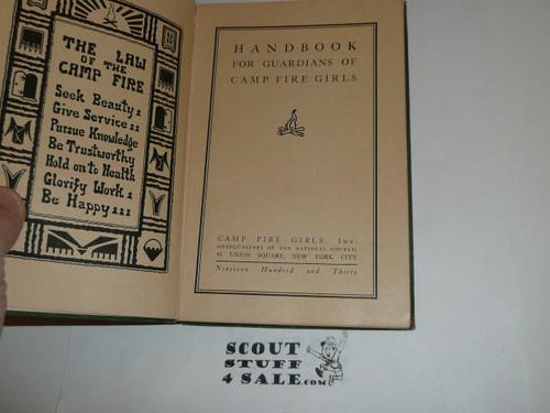1930 Handbook for Leaders of Campfire Girls