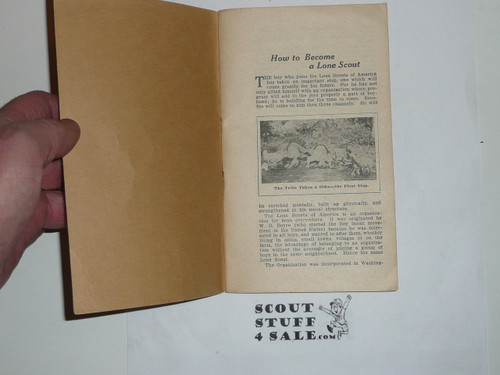 Lone Scout Handbook, No Printing Date but pre-1924