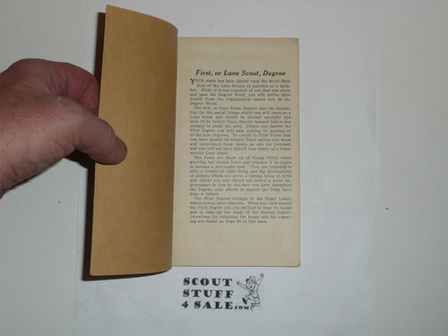 Lone Scout First Degree Book, 1920's pre BSA merger
