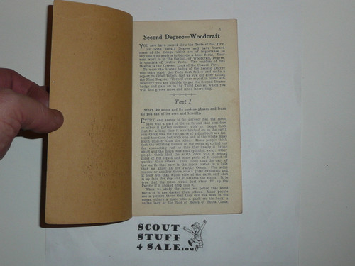 Lone Scout Second Degree Book, 1920's pre BSA merger