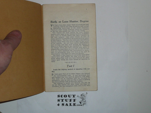 Lone Scout Sixth Degree Book, 1920's pre BSA merger
