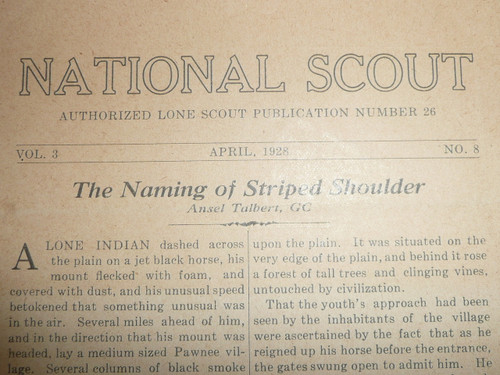 1924-1928 Group of 8 National Scout Lone Scout Tribe Newspapers, Baltmore