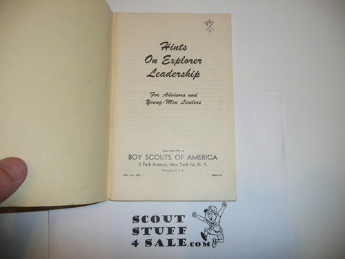 1951 Hints on Explorer Leadership, 1-51 Printing