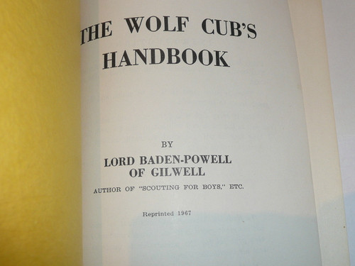 1967 Wold Cubs's Handbook, by Baden Powell