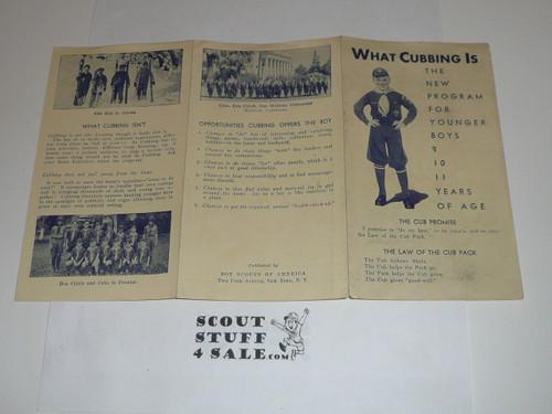 1930's What Cubbing Is, Cub Scout Promotional Brochure
