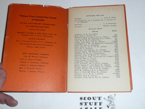 Early William Penn Council Handbook, 32 numbered pages