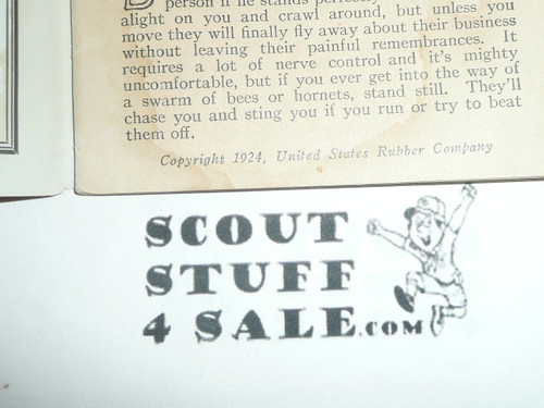1924 Keds (Shoe Company) Handbook for Boys, United States Rubber Company