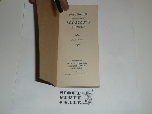 1918 Drill Manual for Boy Scouts of America, 6th edition, Pirie MacDonald