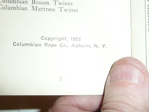 1923 Columbian Rope Company Brochure for Boy Scouts