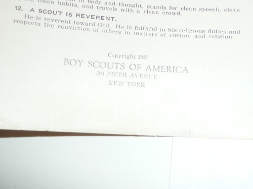 The Scoutmaster and His Troop, 1927 Printing, Boy Scout Service Library